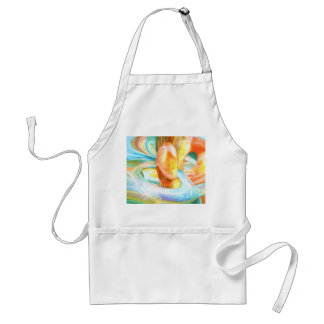 Mango and Cream Pastel Abstract Adult Apron