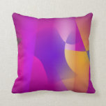 Mango and Eggplant Throw Pillow