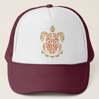 Mango and Lime Turtle Tattoo Trucker Hat