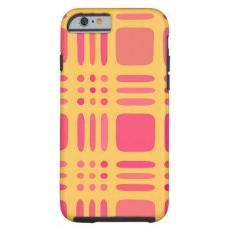 Mango and Papaya Plaid Wannabe Tough iPhone 6 Case