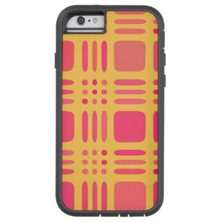 Mango and Papaya Plaid Wannabe Tough Xtreme iPhone 6 Case