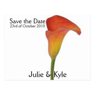 Mango Blush-Save the Date Postcard