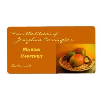 Mango Chutney Canning Labels
