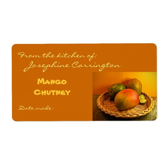 chutney label templates - mango chutney canning labels