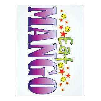 Mango Eat 5.5x7.5 Paper Invitation Card
