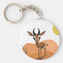 Mango el Gazelle Llavero Personalizado
