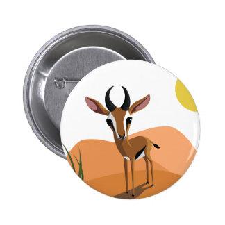 Mango el Gazelle Pin Redondo De 2 Pulgadas