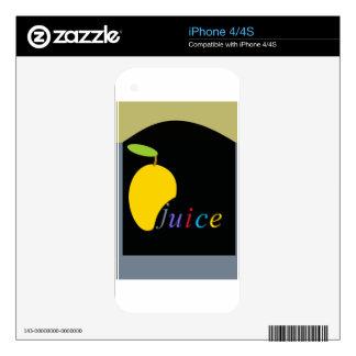 mango juice decals for iPhone 4