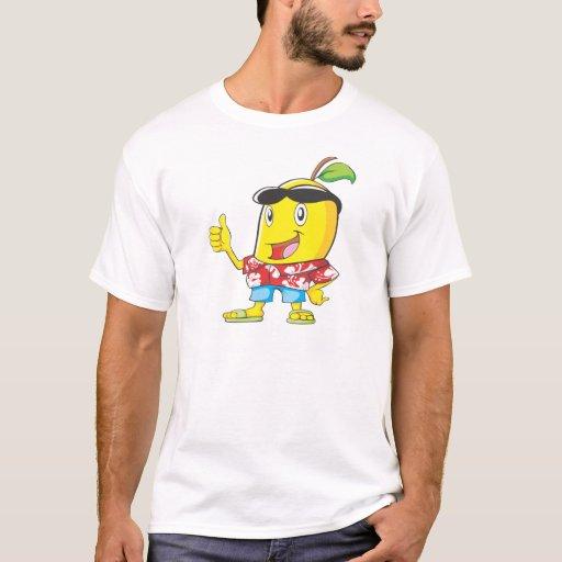 ¡Mango lindo en pulgares de la camisa hawaiana dos