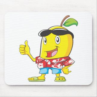 ¡Mango lindo en pulgares de la camisa hawaiana dos Alfombrillas De Ratones