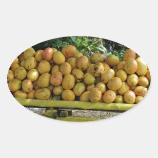 mango market oval sticker