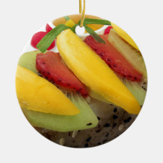 Mango Rice Sushi Food Plate Meal Cuisine Ceramic Ornament