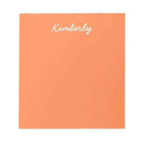 Mango Solid Color Notepad