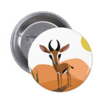 Mango the Gazelle 2 Inch Round Button