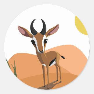 Mango the Gazelle Classic Round Sticker