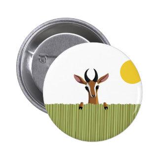 Mango the Gazelle Peek-a-boo 2 Inch Round Button