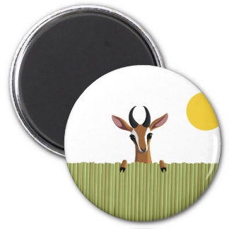 Mango the Gazelle Peek-a-boo 2 Inch Round Magnet