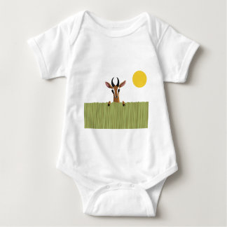 Mango the Gazelle Peek-a-boo Baby Bodysuit