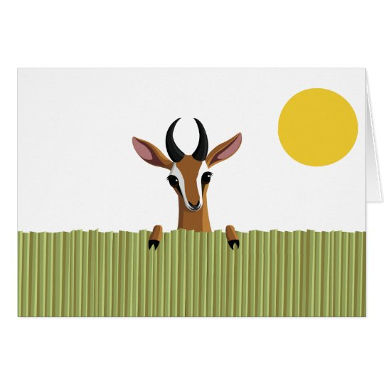 Mango the Gazelle Peek-a-boo Card