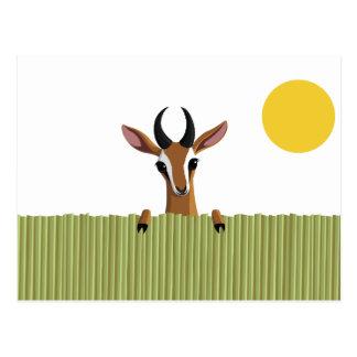 Mango the Gazelle Peek-a-boo Postcard