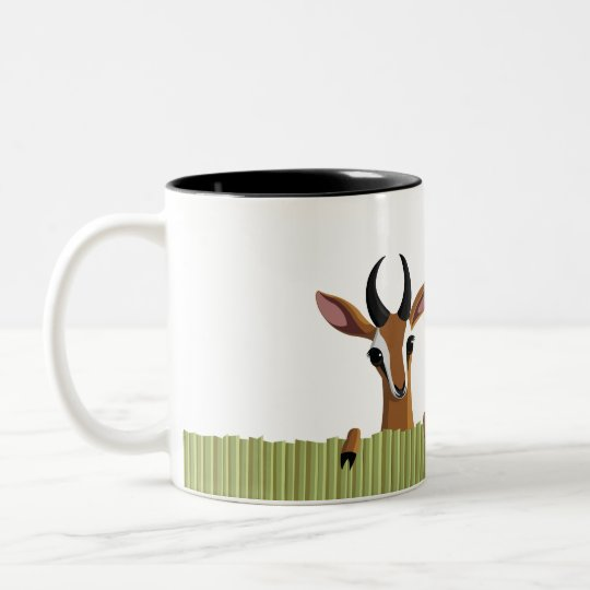 Mango the Gazelle Peek-a-boo Two-Tone Coffee Mug