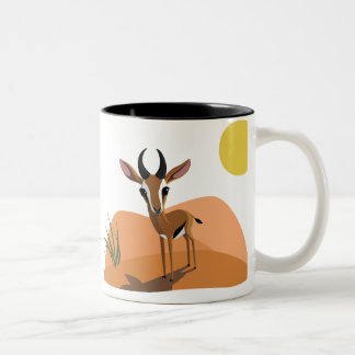 Mango the Gazelle Two-Tone Coffee Mug