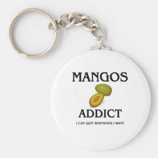 Mangos Addict Basic Round Button Keychain