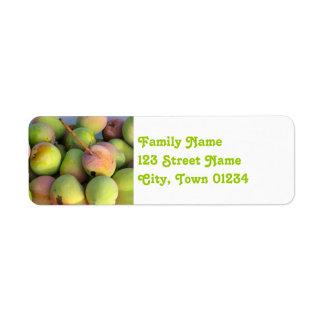 Mangos Etiqueta De Remite