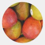 Mangos maravillosos etiqueta redonda