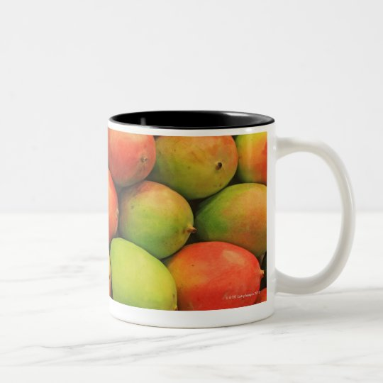 Mangos, Spain, Catalonia, Barcelona, La Boqueria Two-Tone Coffee Mug