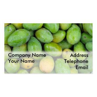 Mangos verdes frescos tarjetas de visita