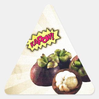 Mangosteen KAPOW pop art Triangle Sticker