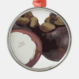 Mangosteen Sweet and Tangy Fruit from Thailand Metal Ornament