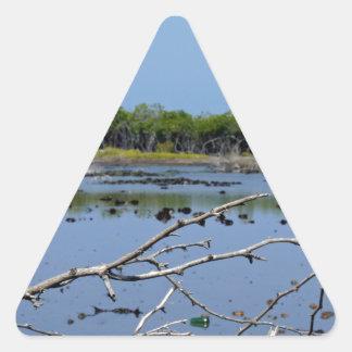 mangrove bay triangle sticker
