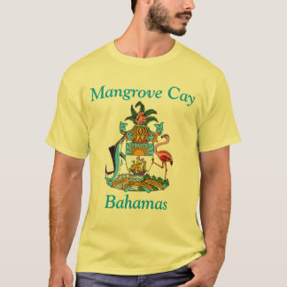 Mangrove Cay, Bahamas with Coat of Arms T-Shirt