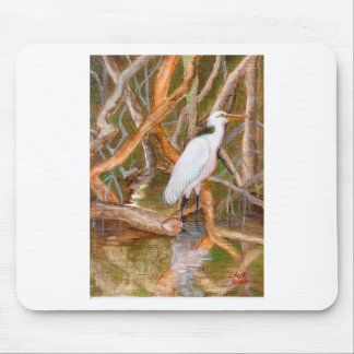Mangrove Egret No. 2 Mouse Pads