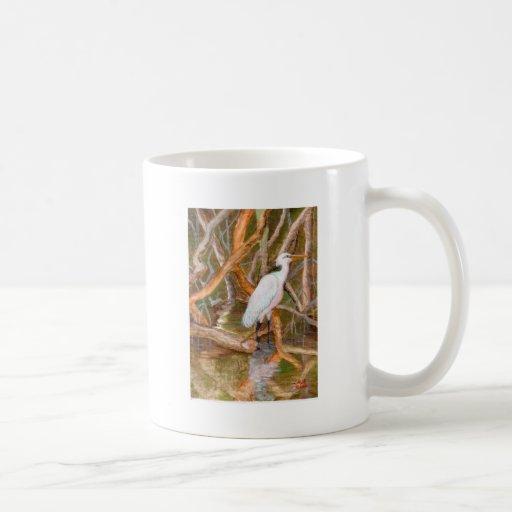 Mangrove Egret No. 2 Mugs