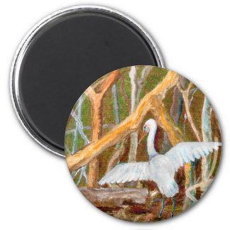 Mangrove Egret No. 3 2 Inch Round Magnet