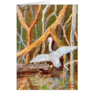 Mangrove Egret No. 3 Greeting Card