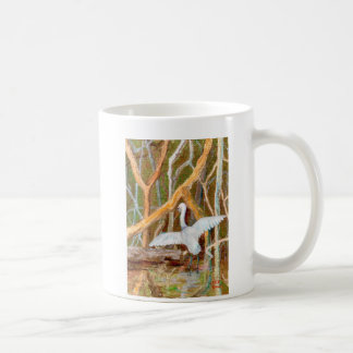 Mangrove Egret No. 3 Classic White Coffee Mug