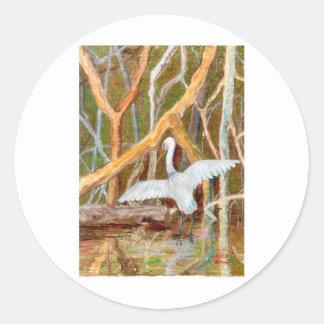 Mangrove Egret No. 3 Classic Round Sticker