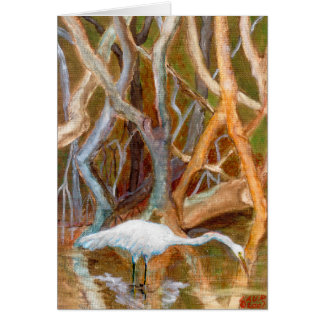 """Mangrove Egret No. 4"" Greeting Card"