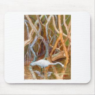 """Mangrove Egret No. 4"" Mouse Pad"