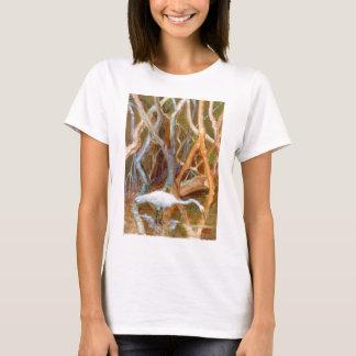 """Mangrove Egret No. 4"" T-Shirt"