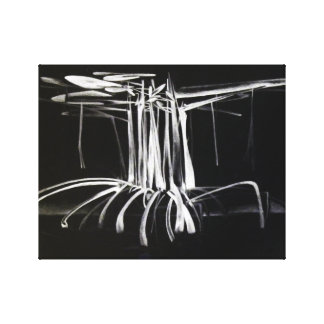 Mangrove Tree at Night Canvas Print