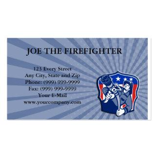 Manguera de bomberos americana del bombero del bom plantilla de tarjeta personal