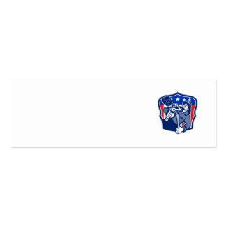 Manguera de bomberos americana del bombero del bom tarjetas de visita
