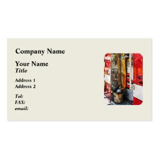 Manguera de bomberos cubo y boca plantillas de tarjetas personales