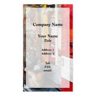 Manguera de bomberos cubo y boca plantilla de tarjeta de visita