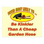 Manguera de jardín rizada tarjeta postal